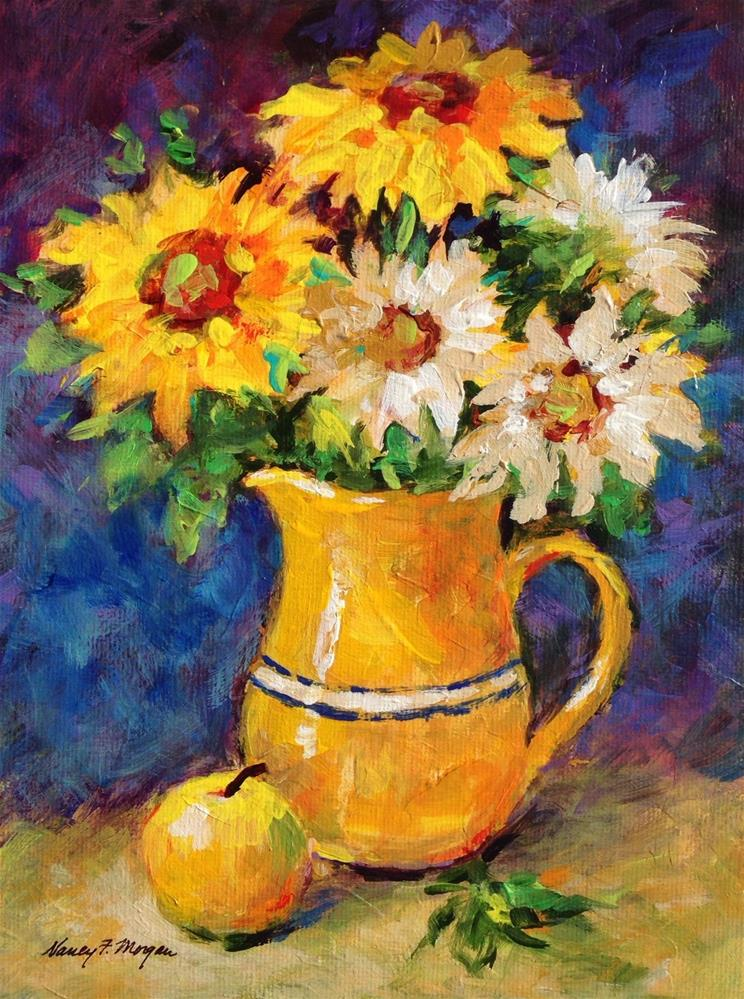 """Saturday Sunflowers"" original fine art by Nancy F. Morgan"