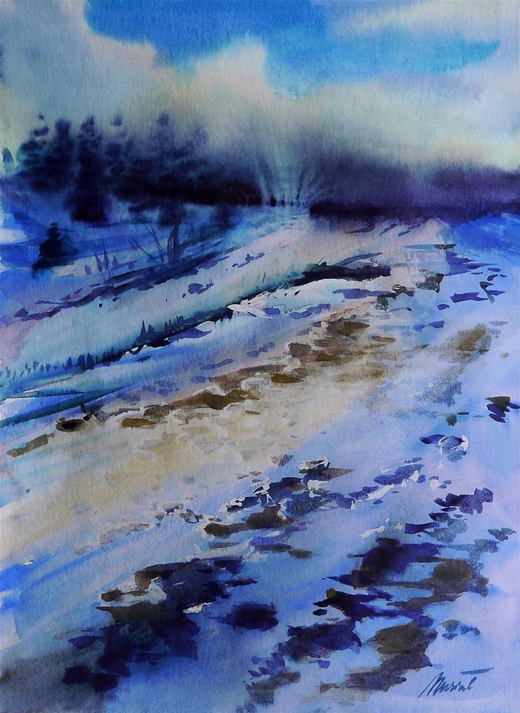 """winter_3"" original fine art by Beata Musial-Tomaszewska"