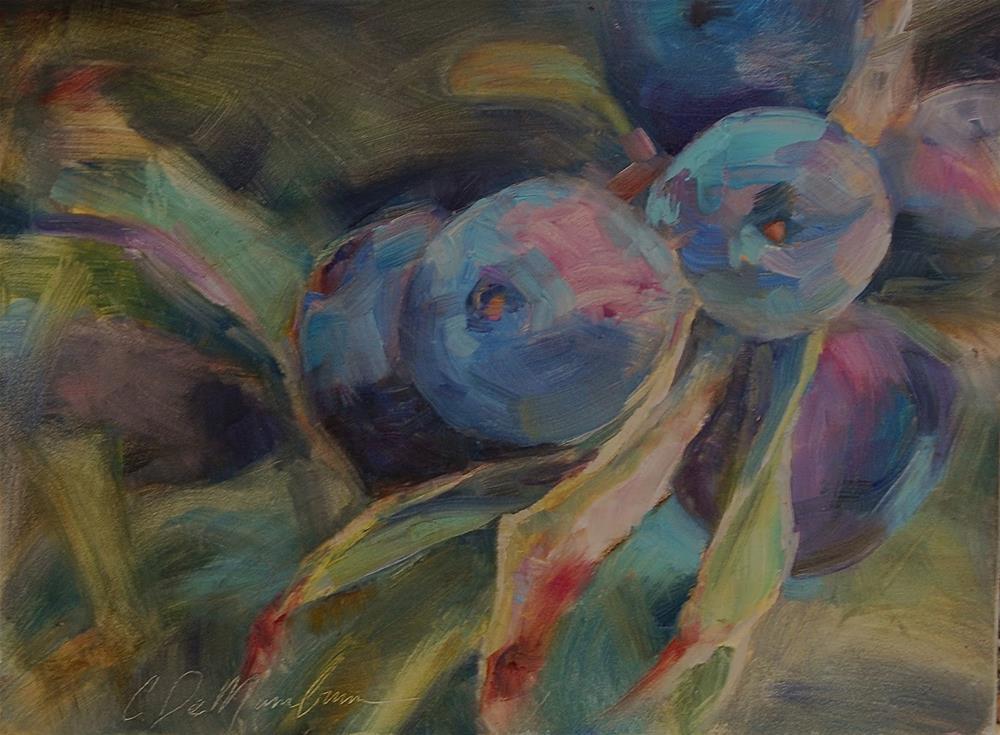 """""""Berry Painting, Original oil by Carol DeMumbrum"""" original fine art by Carol DeMumbrum"""