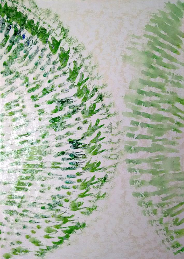 """A Green Touch"" original fine art by Adéla Svobodová"