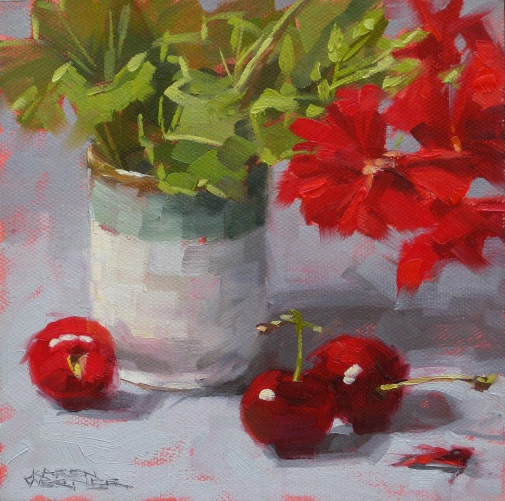 """Red Show"" original fine art by Karen Werner"
