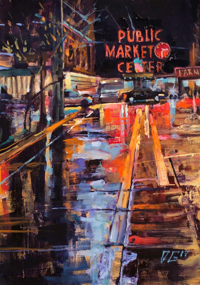 """Seattle No. 4"" original fine art by Dimitriy Gritsenko"