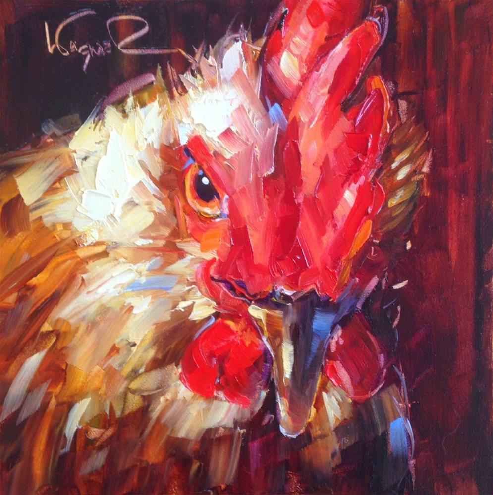 """ORIGINAL CONTEMPORARY ROOSTER PAINTING by OLGA WAGNER"" original fine art by Olga Wagner"