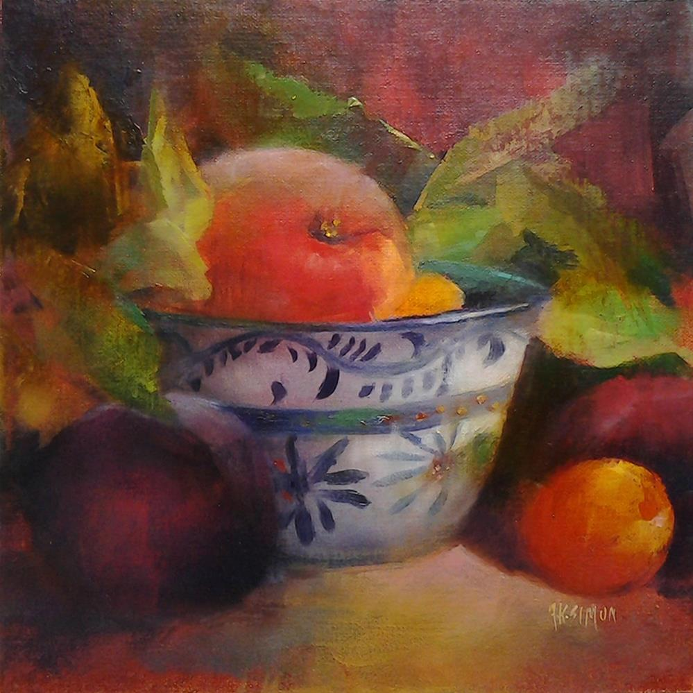 """Fresh Fruit"" original fine art by A.K. Simon"