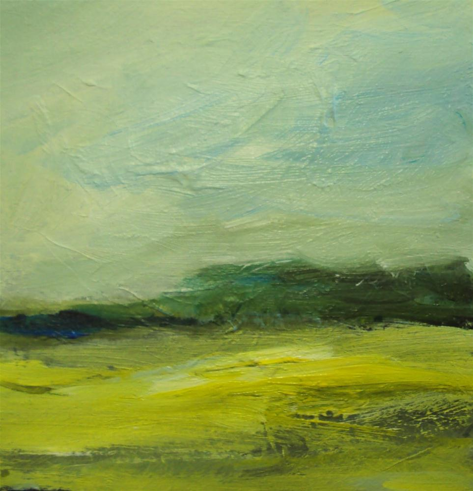 """Yellow fields # 2"" original fine art by Parastoo Ganjei"