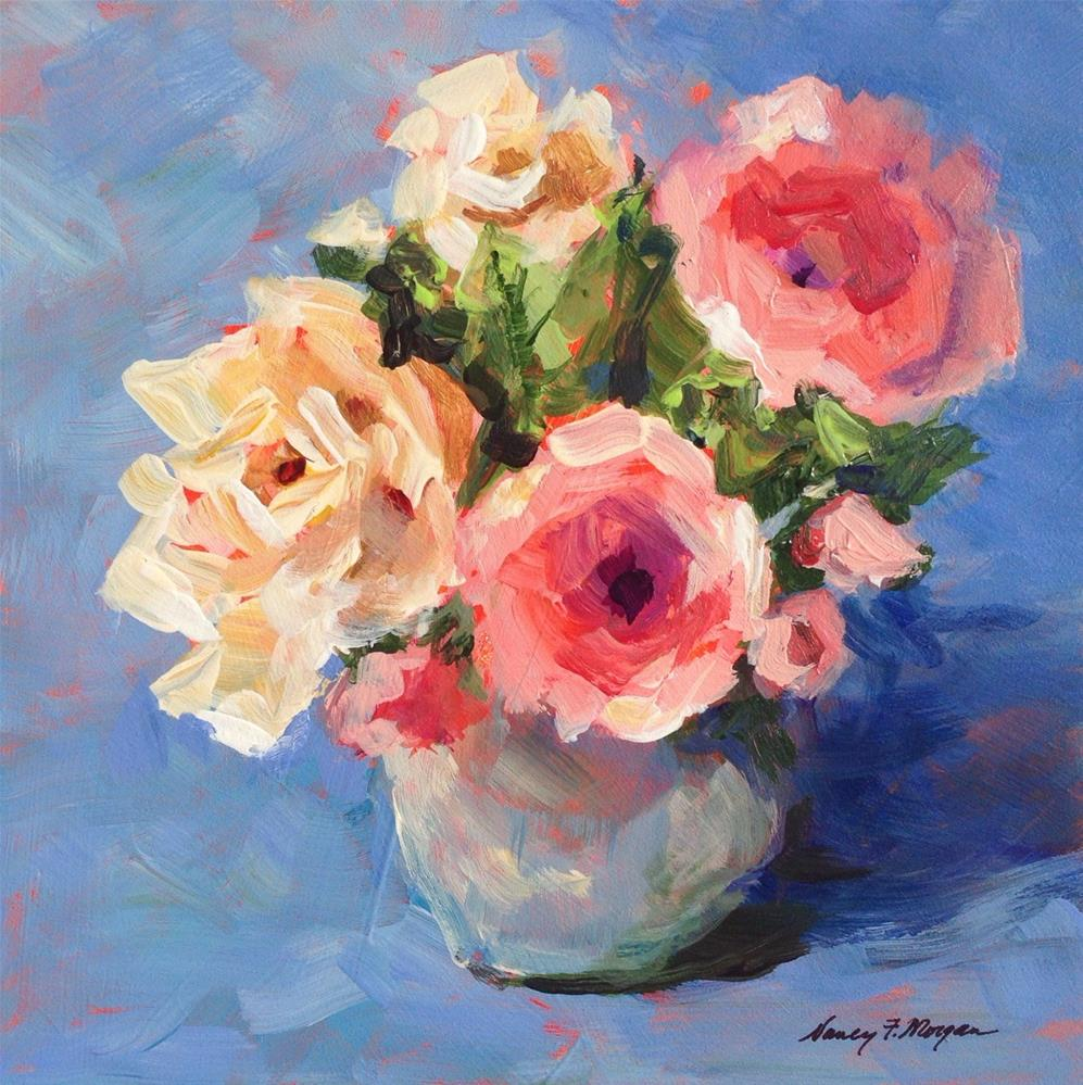 """Baby Roses"" original fine art by Nancy F. Morgan"