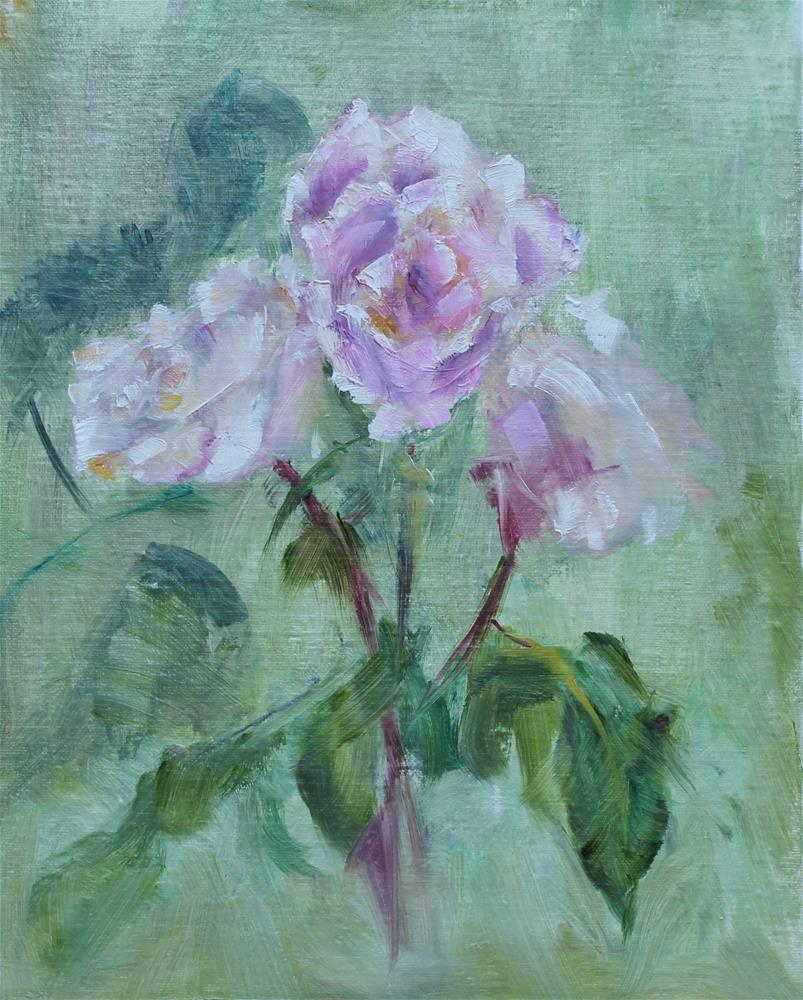 """Yesterday's Rosees"" original fine art by Karen Solorzano"