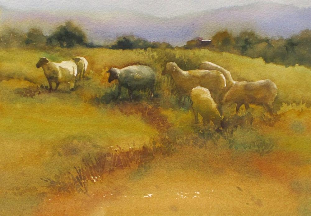 """Out to Feed"" original fine art by Julie Crouch"