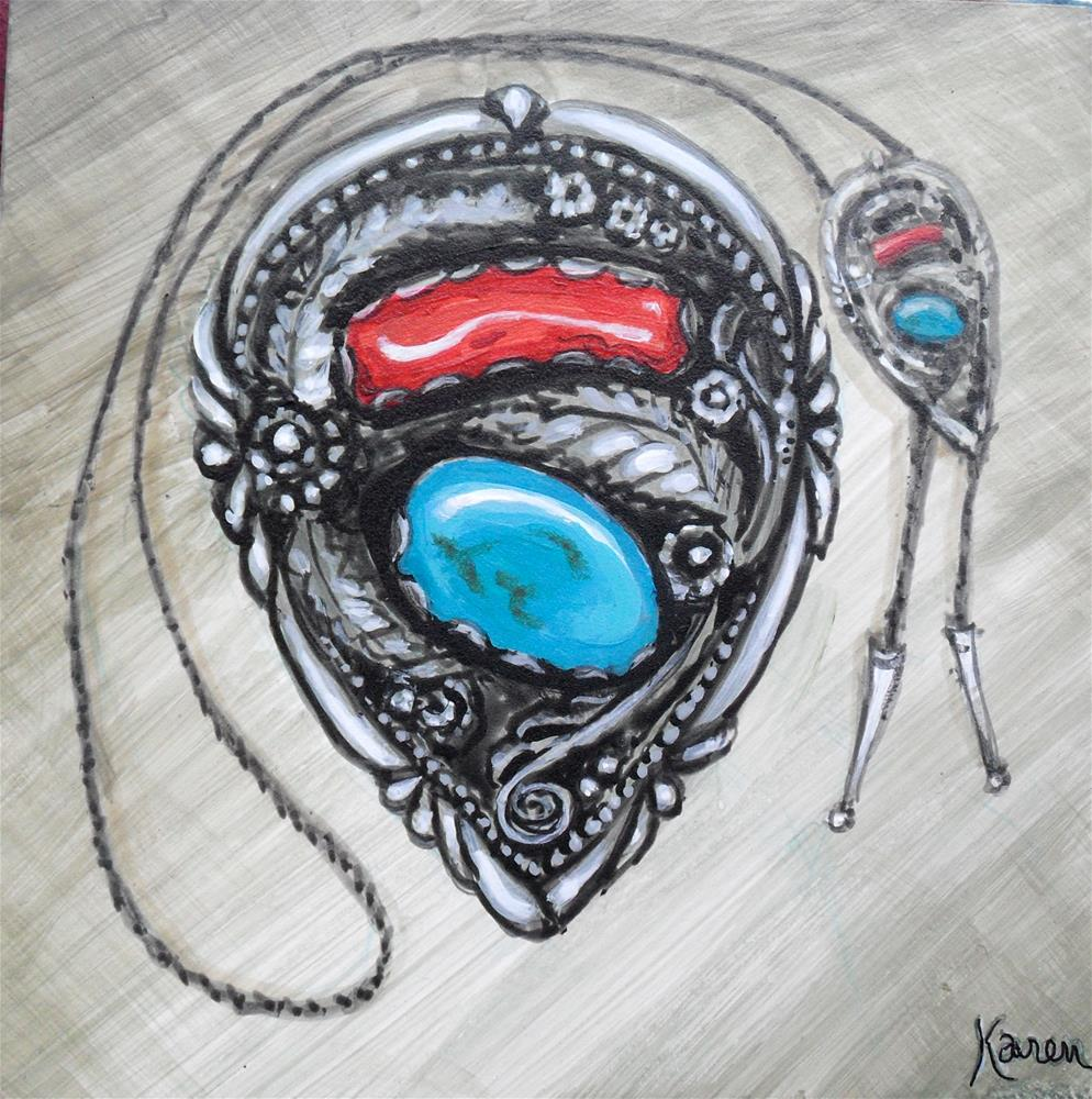 """Bolo Tie"" original fine art by Karen Roncari"