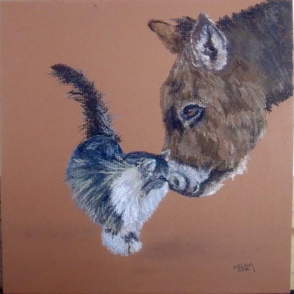 """BFFs"" original fine art by Nelvia  McGrath"