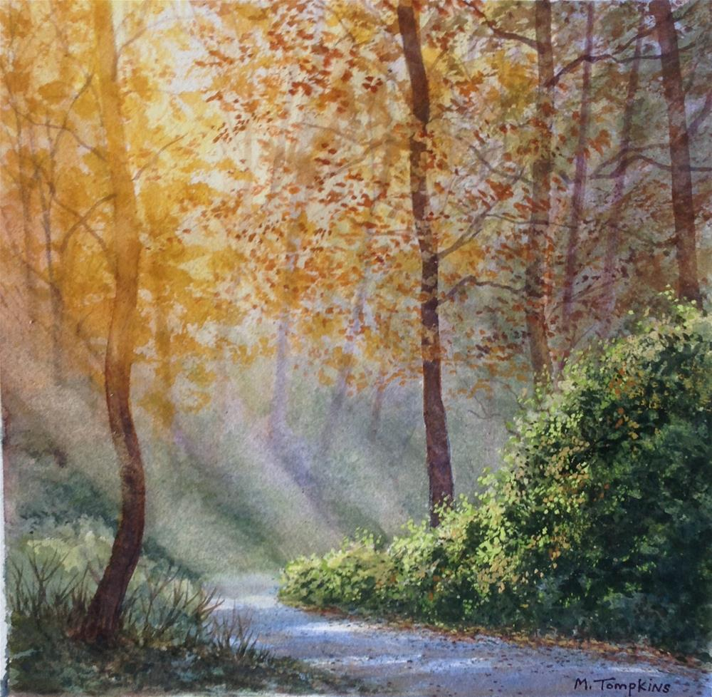 """Morning Walk"" original fine art by Mark Tompkins"