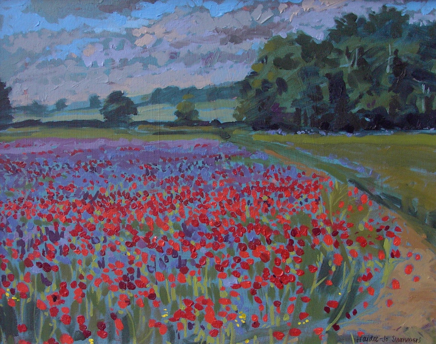 """Poppy field"" original fine art by Haidee-Jo Summers"