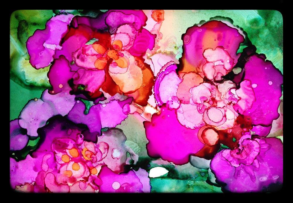 """Wild Violet Punch"" original fine art by Kelly Alge"