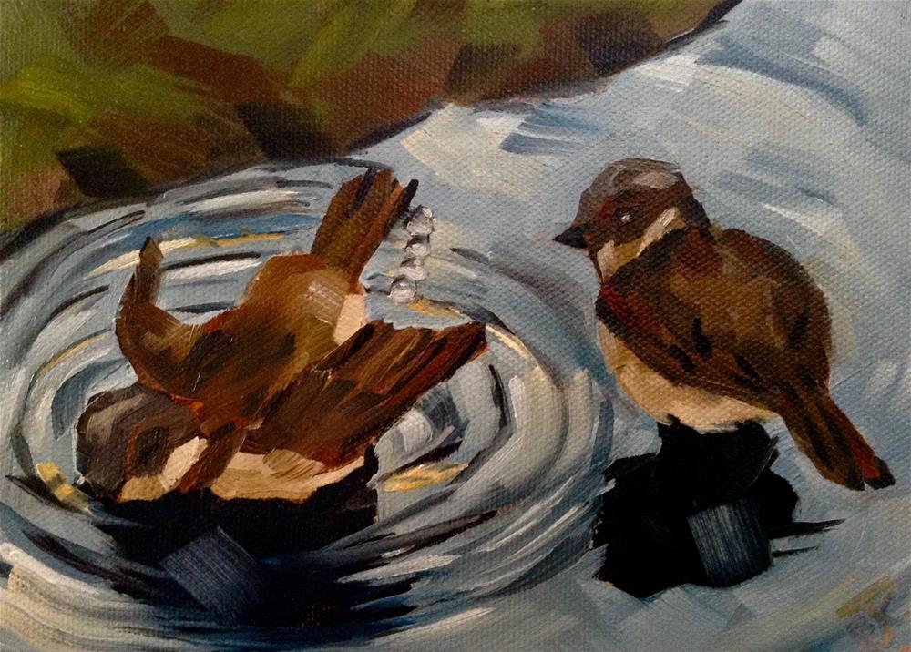 """Splish Splash"" original fine art by Bobbie Cook"