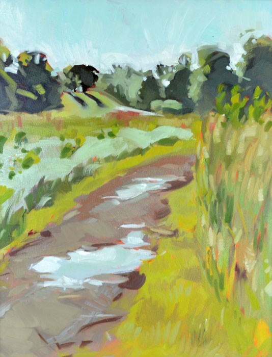 """Puddled Path"" original fine art by Jessica Green"