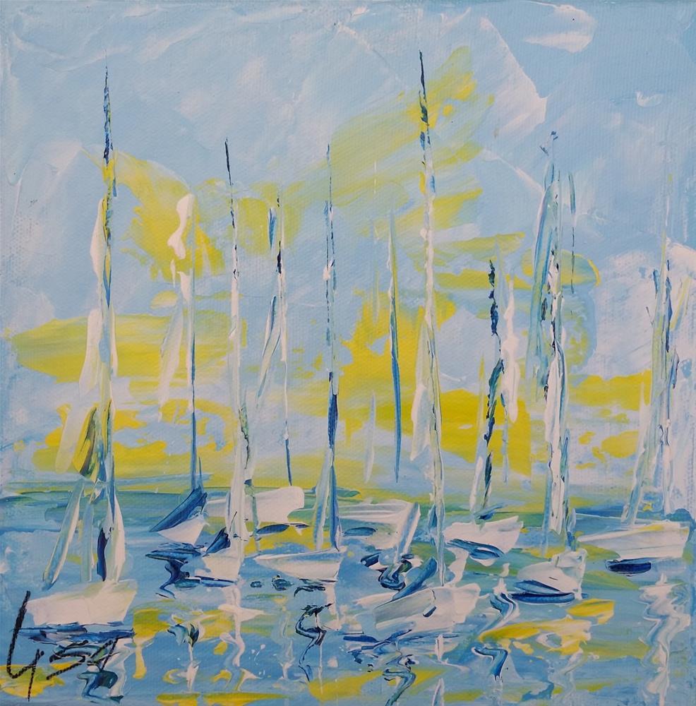 """114 - Ebbs and Flows"" original fine art by Lisa Whitener"