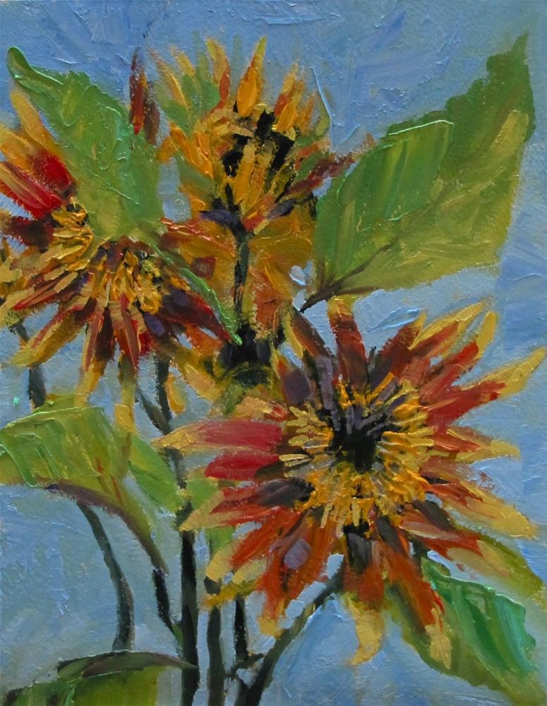 """Sunflower Explosion"" original fine art by Christine Holzschuh"