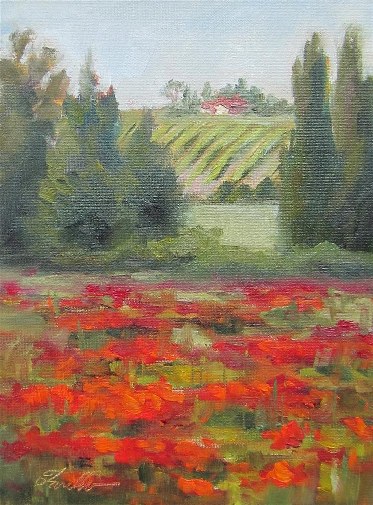 """Beyond the Poppies Study"" original fine art by Pat Fiorello"