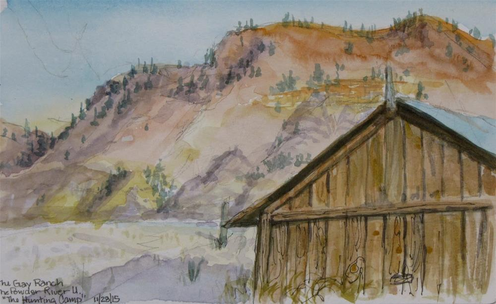"""Out the Back Door, Glenn Gay Ranch, MT"" original fine art by Jane Albin"