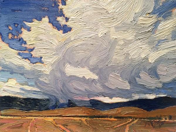 """Ashcroft Light:  6x8  oil on panel"" original fine art by Ken Faulks"