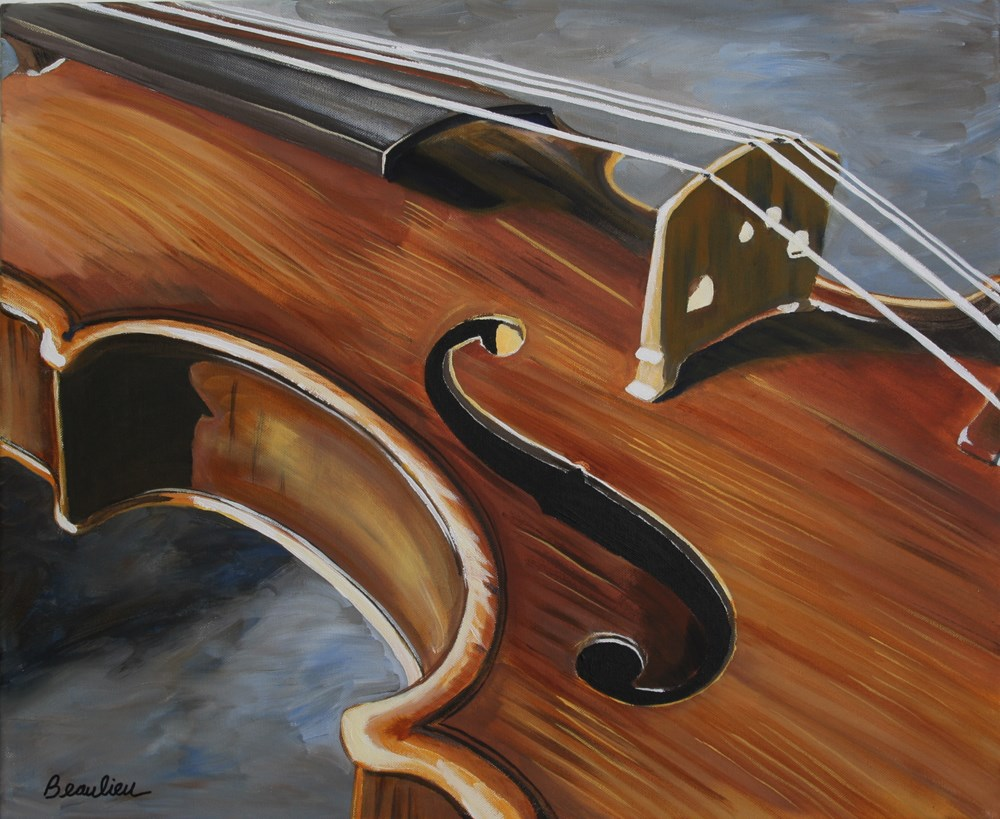 """Violin"" original fine art by Andre Beaulieu"