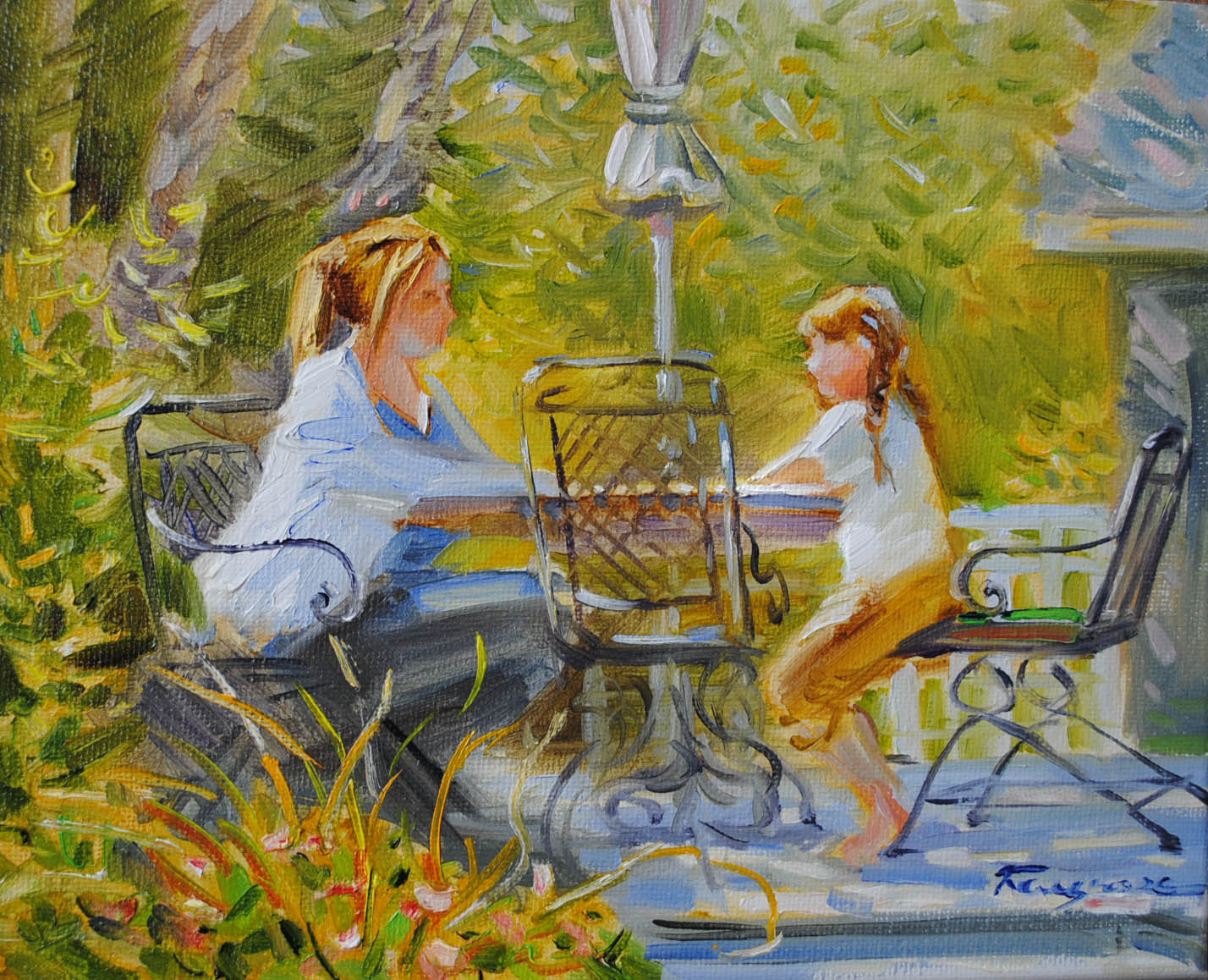 """Summer Afternoon"" original fine art by Elena Katsyura"