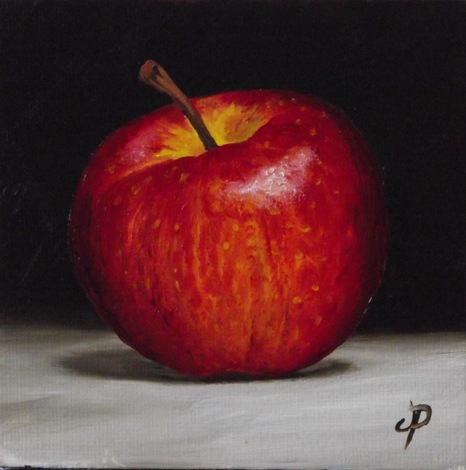 """""""Little Gala apple"""" original fine art by Jane Palmer"""