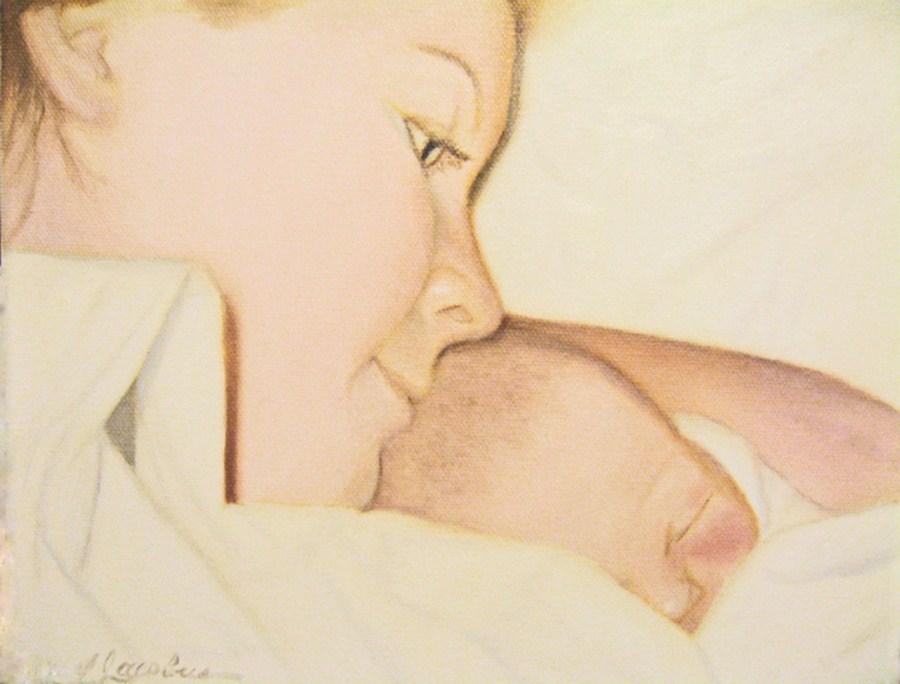 """""""New Lives"""" original fine art by Linda Jacobus"""