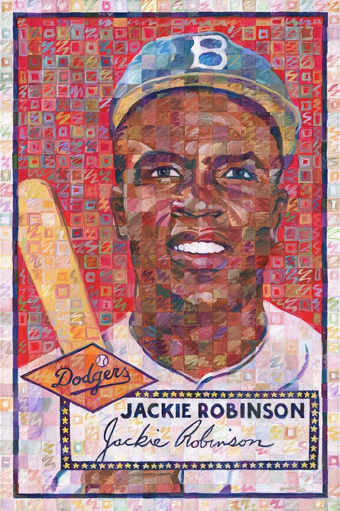 """Jackie Robinson 1952"" original fine art by Randal Huiskens"