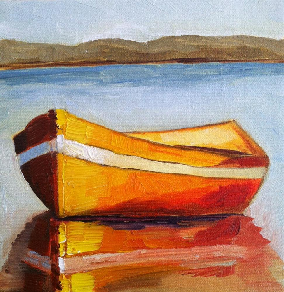 """Boat"" original fine art by Karen D'angeac Mihm"
