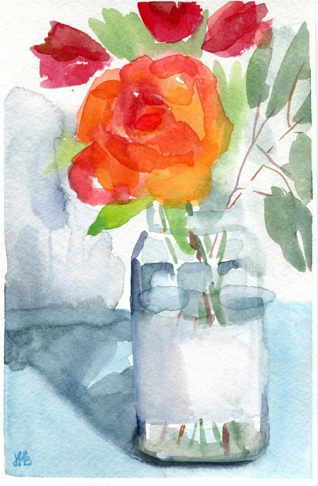 """With Eucalyptus"" original fine art by Heather Bennett"