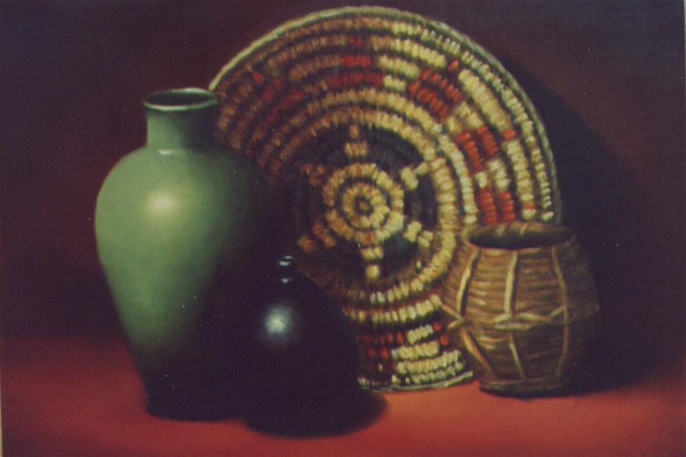 """Indian Basket"" original fine art by Lina Ferrara"