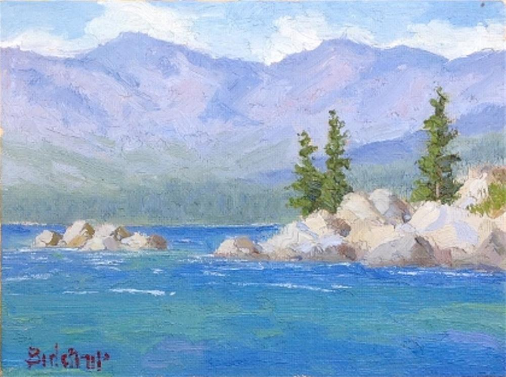 """Sand Harbor"" original fine art by Mark Bidstrup"