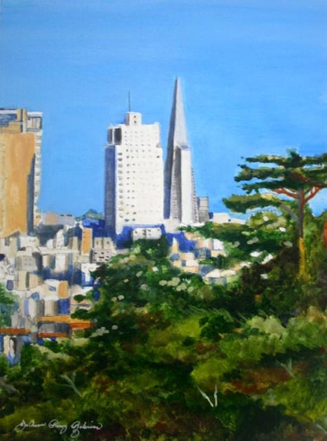 """City by the Bay"" original fine art by JoAnne Perez Robinson"