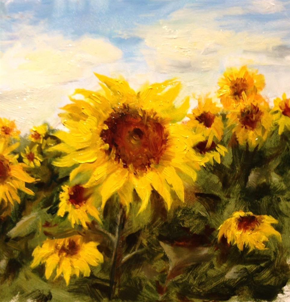 """Sunflower Farm"" original fine art by Dorothy Woolbright"