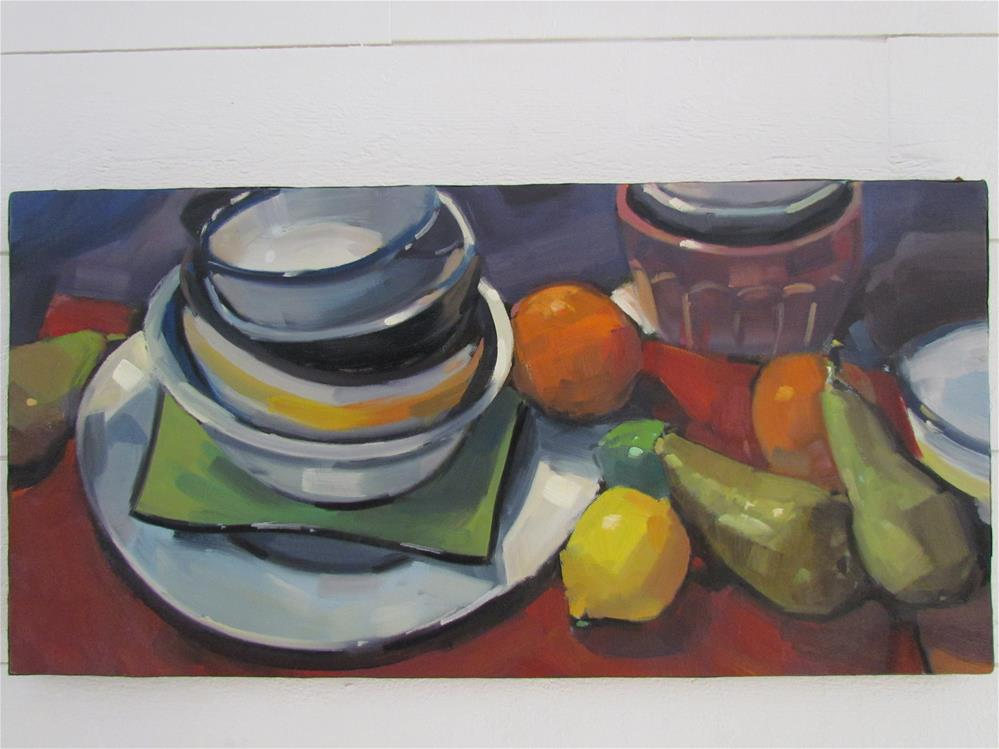 """trop de choses sur la table"" original fine art by gilles Poulizac"