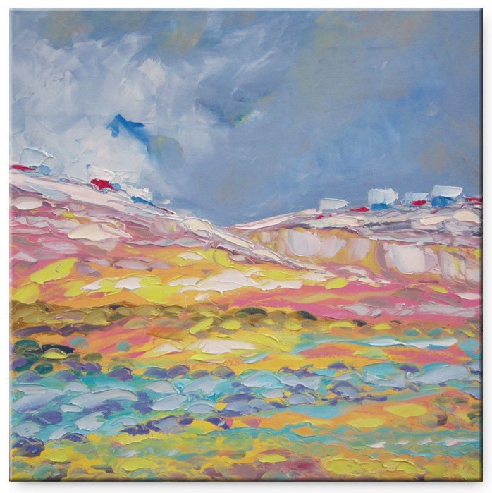 """First snow in the Alps"" original fine art by Elena Lunetskaya"