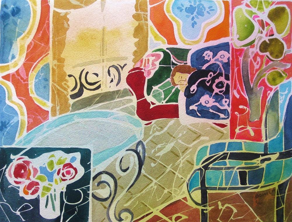 """Nap Time"" original fine art by Priscilla Bohlen"