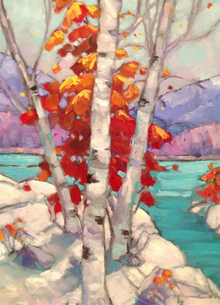 """Winter Birch"" original fine art by Krista Eaton"