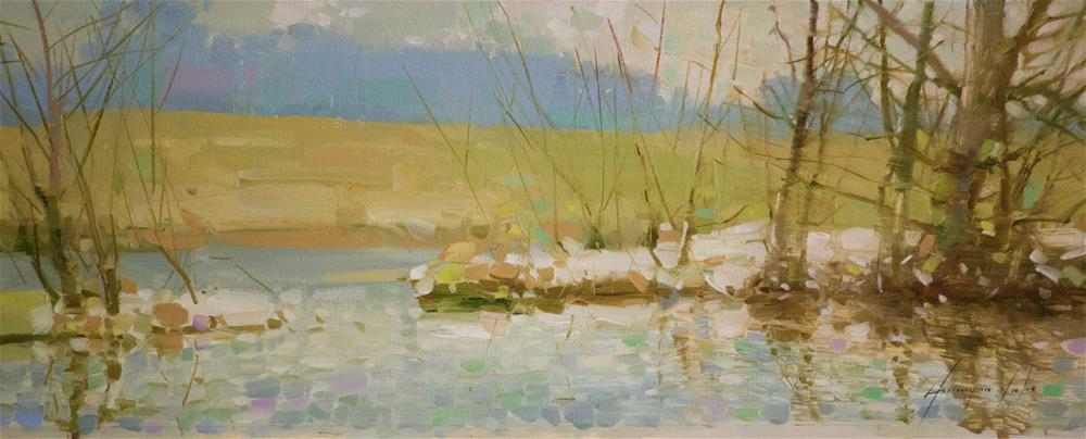 """Spring time Oil painting with Certificate of Authenticity"" original fine art by V Y"