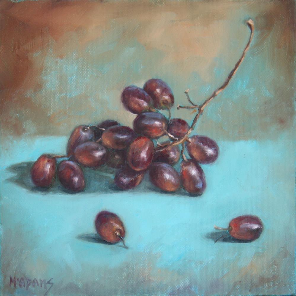 """Black Grapes"" original fine art by Phyllis McAdams"