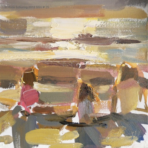 """Seascape summer # 20 Three princesses"" original fine art by Roos Schuring"