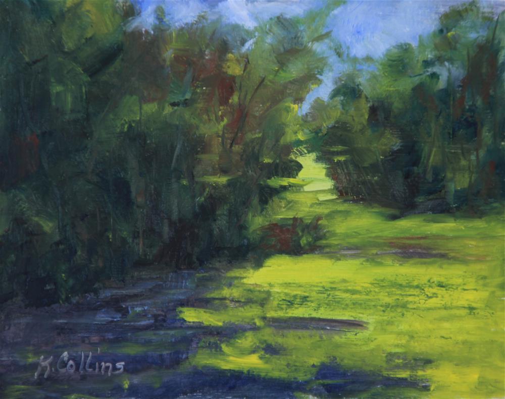 """Sunlit Greenway"" original fine art by Kathy Collins"