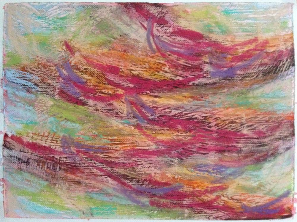 """""""Showing Up"""" original fine art by Dotty  Seiter"""