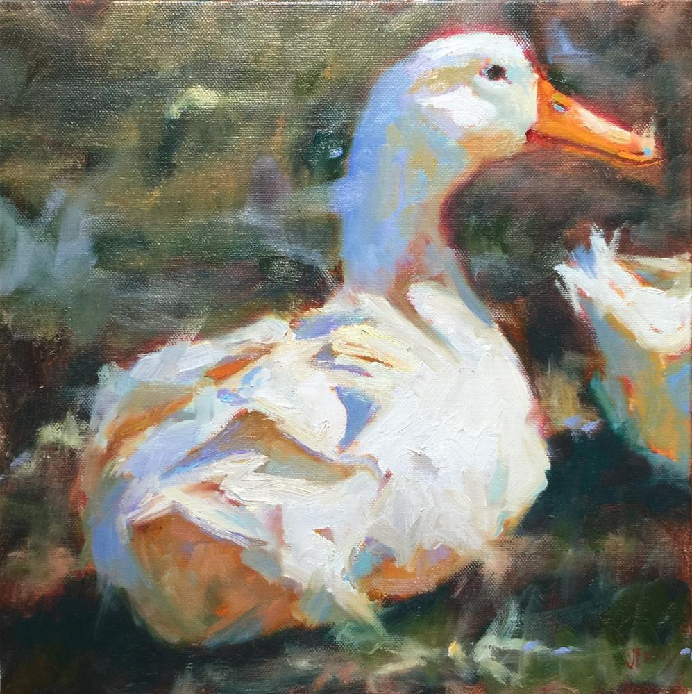 """Happy Quackers"" original fine art by Jenny Buckner"