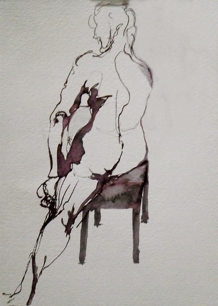 """""""B11Jan"""" original fine art by Mitsuru Cope"""