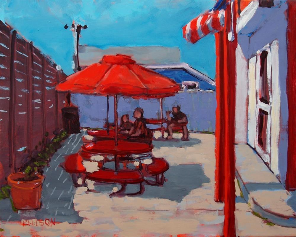 """Dune Burger Dining"" original fine art by Rick Nilson"