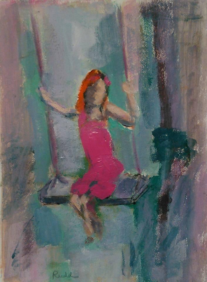 """Free Play"" original fine art by Ann Rudd"