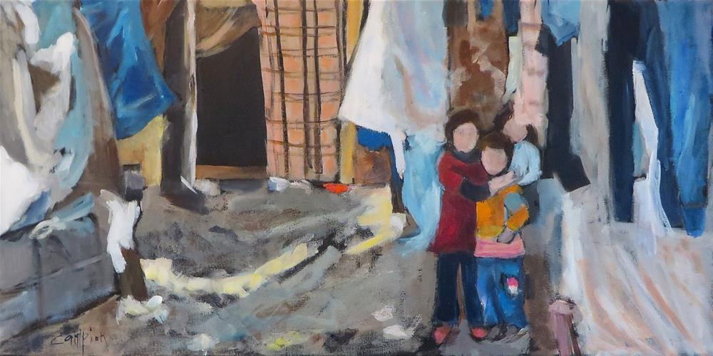 """788 But Tell Me, Where Do the Children Play?"" original fine art by Diane Campion"