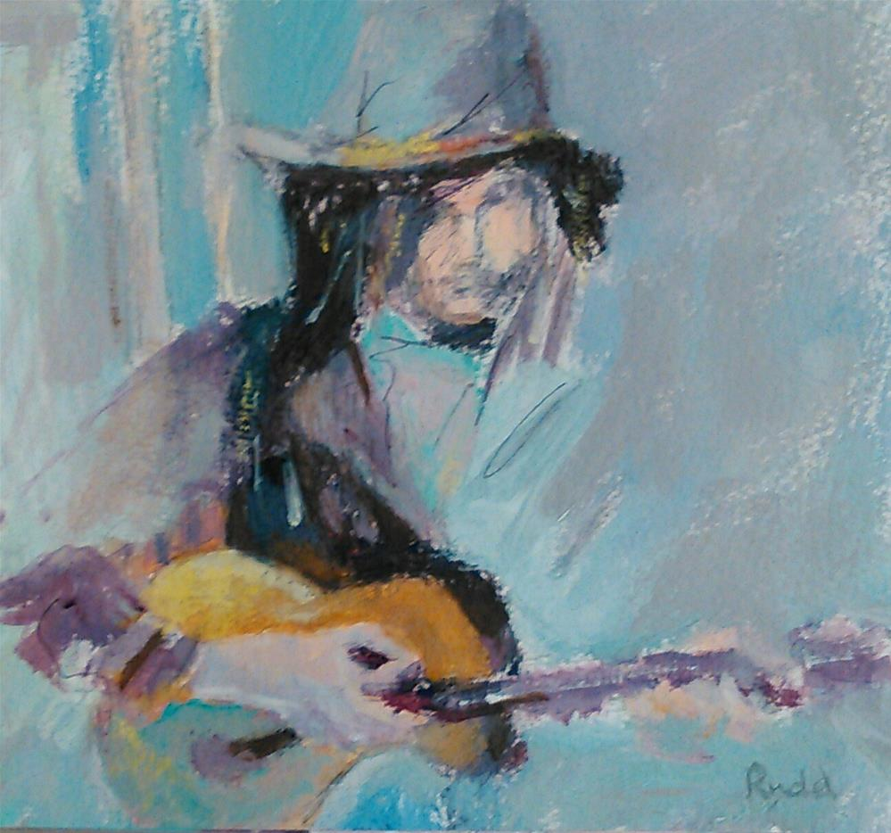 """Some Blues"" original fine art by Ann Rudd"